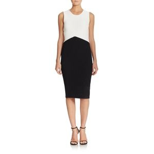 NWT Timo Weiland Ribbed Colorblock Sheath Dress